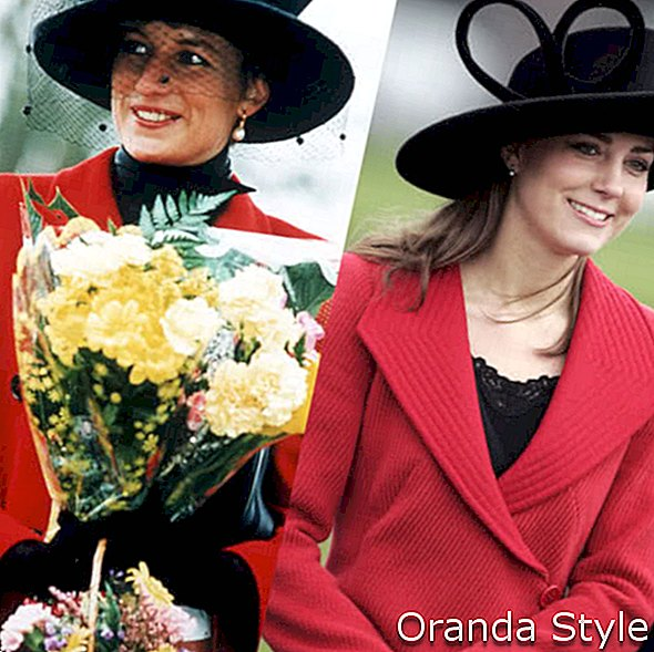 cappotti rossi lady diana e kate middleton
