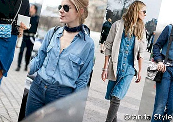 Paris Fashion Week Street Style Denim