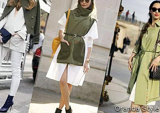 Paris Fashion Week Street Style Army Green