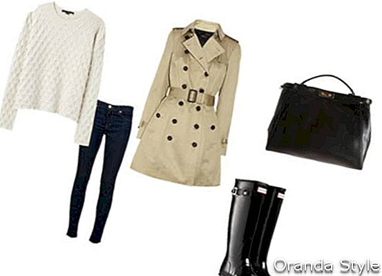 Burberry Prorsum Trenchcoat Outfit Kombination
