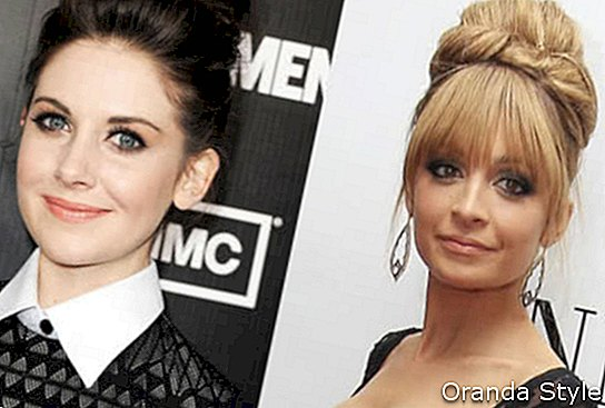 Allsion Brie e Nicole Richie capelli topknot