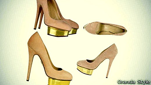 Charlotte Olympia - Dolly - Plateau-Pumps aus Wildleder