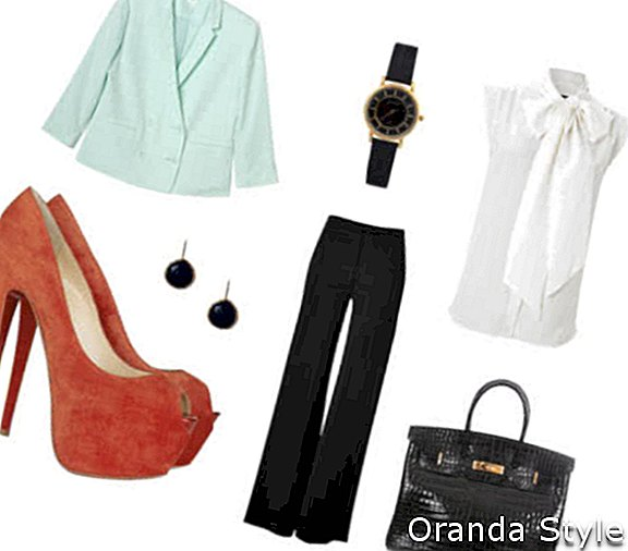 Outfit kombination 3 med Christian Louboutin Highness 160 ruskindspumper