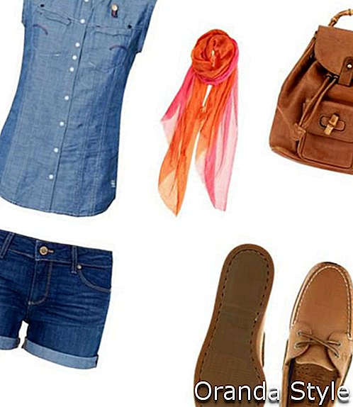All Denim Outfit Kombination mit Sperry Topsiders Schuhen