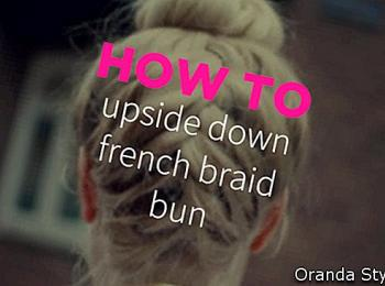 Come: capovolto francese Braid Bun